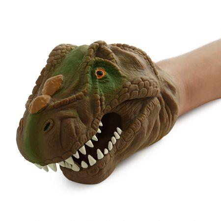Image of Funny Dinosaur Model Hand Puppet Interactive Toy