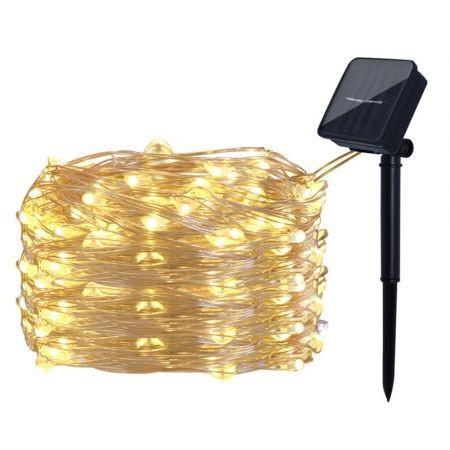 Image of Solar String Lights 100 LED Fairy 10M Outdoor Indoor Decorative