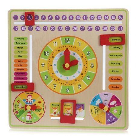 Multifunctional Clock Calendar Board Cognitive Training Toy