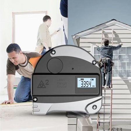 Image of 2 in 1 Laser Rangefinder Digital Tape Measure