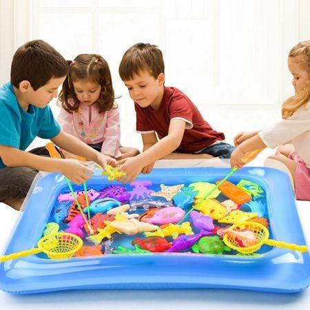 Image of Magnetic Fishing Model Toy Set Kids Gift for Intelligence Development