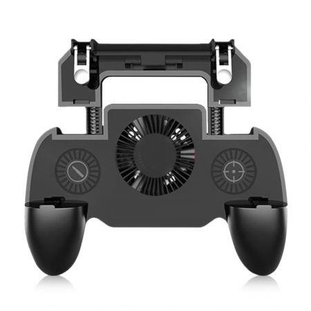Image of Mobile Game Controller Grip Extended Handle with Trigger Joystick for iOS / Android