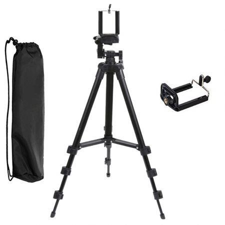 Image of New 2in1 Three-way Universal Tripod Camera Camcorder with Cell Phone Clip Holder
