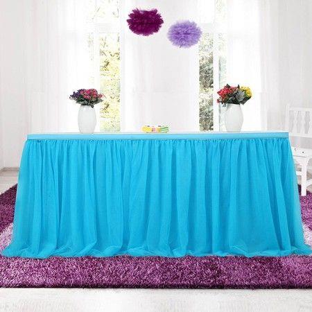 Image of Wedding Overall Desk Mesh Gauze Dress Party Decoration