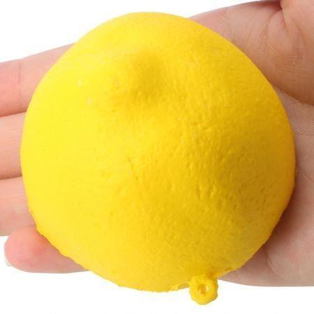 Image of PU Sponge Slow Rising Simulate Lemon Pendant Squeeze Toy