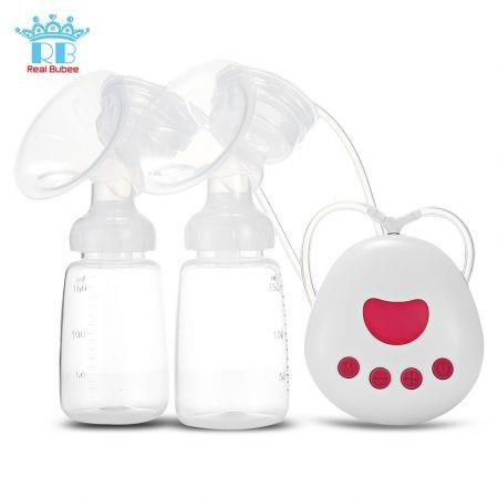 Image of RealBubee RBX - 8025 - 2 Infant Breastfeeding Double USB Electric Breast Pumps