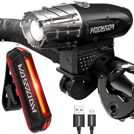Image of Bike Cycling Waterproof Front Light +Taillight Super Light With USB Rechargable