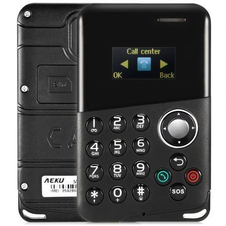 Image of AIEK M8 0.96 inch 4.8mm Card Mobile Phone