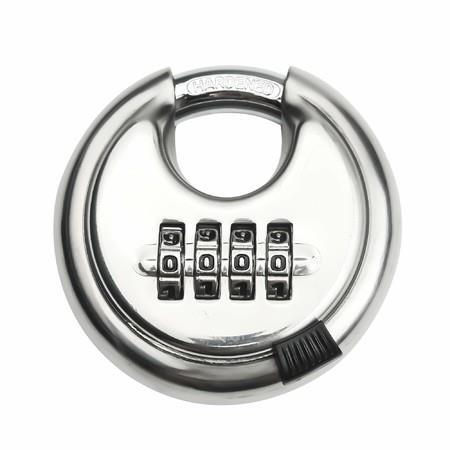 Image of 4-digit Combination Stainless Steel Discus Lock Outdoor for Warehouse, Sheds, Storage Locker, Units
