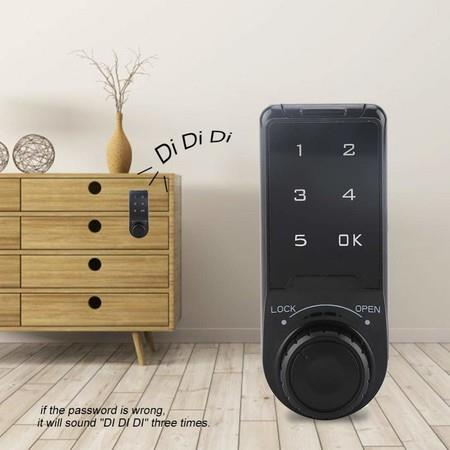 Image of Electronic Deadbolt Lock Password Key Access Security Cabinet Fit Max thickness 20cm