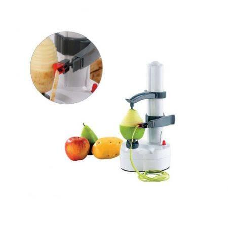 Image of Electric Kitchen Potato Peeler Automatic Pear Apple Fruit Cutter Slicer