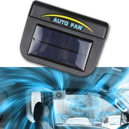 Image of Solar Sun Powered Power Window Fan Ventilator Auto Cool Air Vent For Car Vehicle