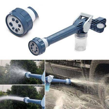 Image of Multi Function 8in1 Jet Garden Car Water & Soap Dispenser Cannon Nozzle Spray