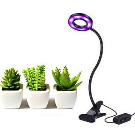 Image of USB Led Plant Grow Light Succulent Clip Desk Flexible Lamp