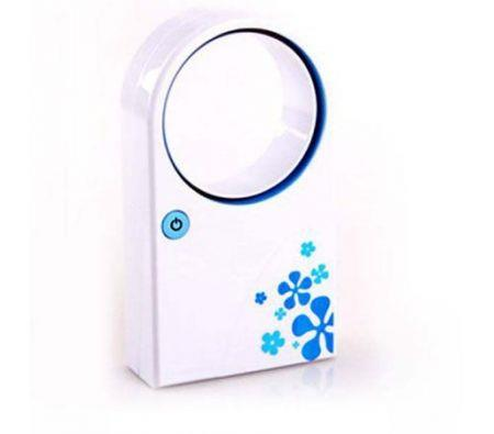 Image of Fashion Style Lovely Mini USB Bladeless Fan for Students and Children Blue