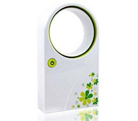 Image of Fashion Style Lovely Mini USB Bladeless Fan for Students and Children Green