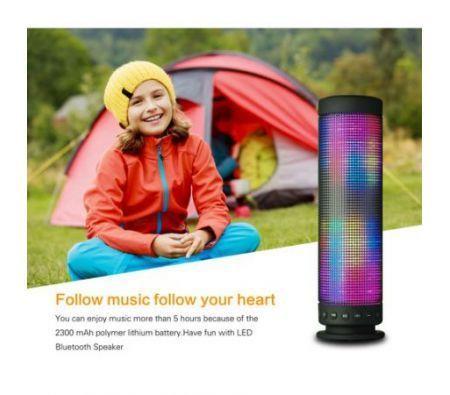 Image of Portable stereo speaker with LED lighting