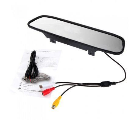 Image of 4.3 inch Color TFT LCD Car Rearview Mirror Monitor for DVD Camera VCR
