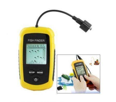Image of 100M Portable Sonar Fish/Depth Finder Alarm Transducer Fishfinder Alarm Fishing