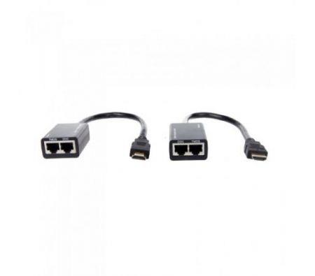 Image of HDMI DVI Extender Extension 1080P Cat5e Cat6 Repeater Cable up to 30M