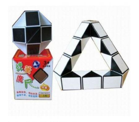 Image of Intelligent White+Black Shape Changing Magic Ruler Puzzle Fun Special Toys Cube