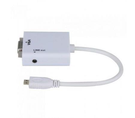 Image of 1080P Micro HDMI Male to VGA Female Cable Video Converter Adapter HD Conversion Cable with Audio Output