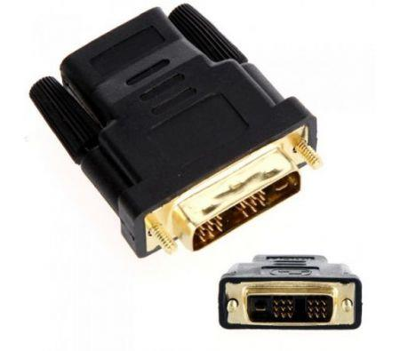 Image of Gold Plated DVI Male To HDMI Female Adapter Converter