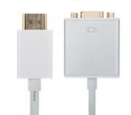 Image of 1080P HDMI Male to VGA Female Adapter Cable Video Converter with Audio Output 15cm