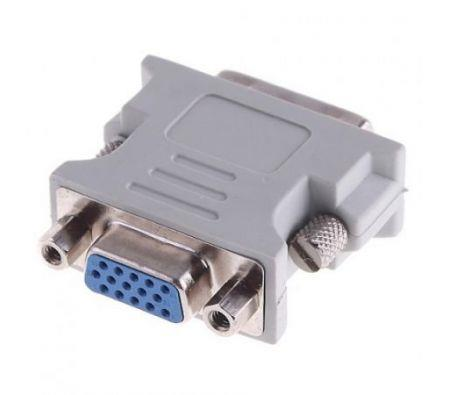 Image of VGA TO DVI 24 PIN CONVERTER FEMALE TO MALE ADAPTER