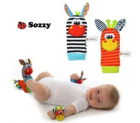 Image of 4Pcs New Baby Infant Soft Toy Wrist Rattles Foots socks finders Developmental