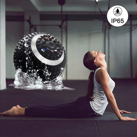 Image of Vibrating Massage Ball 4 Speeds High Intensity Rechargeable Vibration Fitness Massage Balls Sphere Electric Massage Foam Roller Deep Tissue Recovery Myofascial Release Muscle Training