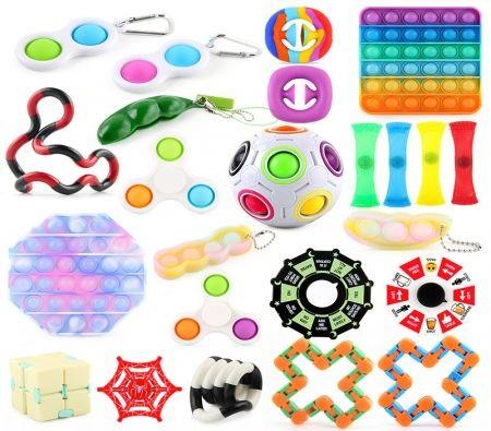 Image of 24Pcs Sensory Toys Set Relieves Stress and Anxiety Fidget Toy for Children Adults