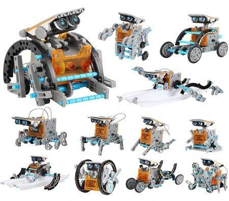Image of 12-in-1 STEM Solar Robot Kit Toys Gifts Educational Building Science Experiment Set Gifts for Kids Boys Girls