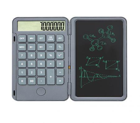 Image of Calculator with 6inch Writing Tablet 12 Digit Display for Students Kids Office(Grey)