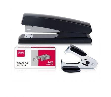 Image of Desktop Stapler, Easy to Load Ergonomic Heavy Duty Stapler, Includes 640 Staples and Staple Remover