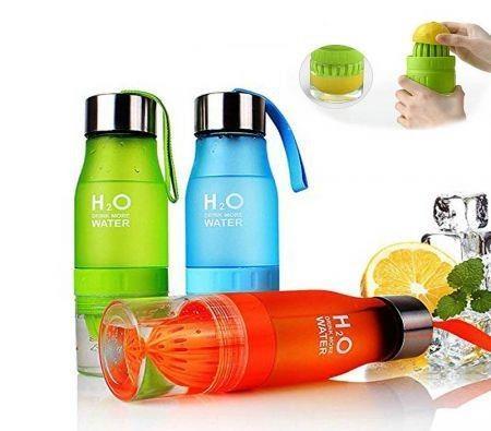Image of 650ML H2O Fruit Infusion Water Bottle Lemon Juicer Outdoor Sport Juice Water Bottle Drinkware BPA Free Random Color