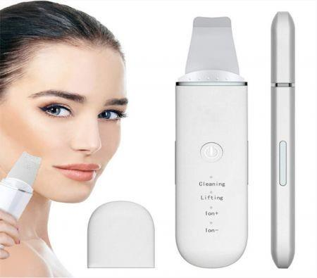 Image of Skin Scrubber - Skin Spatula, Blackhead Remover Pore Cleaner with 4 Modes, Facial Scrubber Spatula, Comedones Extractor for Facial Deep Cleansing