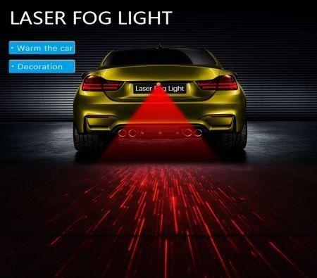 Image of General Motors Motorcycle Rear-end Alarm Laser Fog Light Tail Light Anti-collision Warning Light (Meteor)