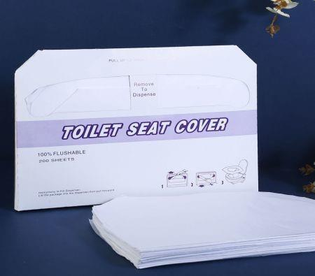 Image of 3Packs Disposable Toilet Seat Covers Paper Shield 600pcs total