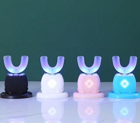 Image of U-shaped Teeth Whitening Ultrasonic Tooth Brush Kit Automatic 360 Degree Wirelss Electric Toothbrush