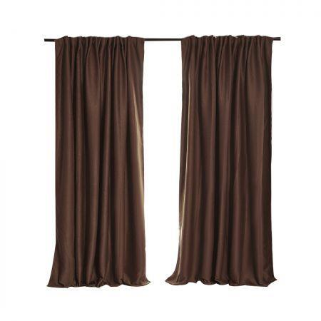 Image of 2X Blockout Curtains Curtain Blackout Bedroom 240cm x 230cm Stone