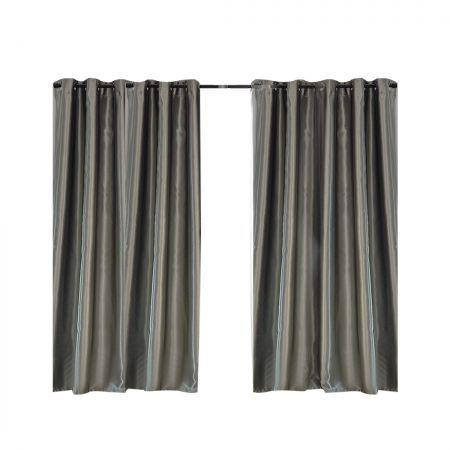 Image of 2X Blockout Curtains Blackout Curtain Bedroom Window Eyelet Grey 180CM x 213CM