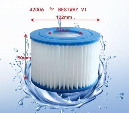 Image of Bestway Coleman SaluSpa Swimming Pool Filter Pump Type VI Replacement Cartridge (2 Pack)