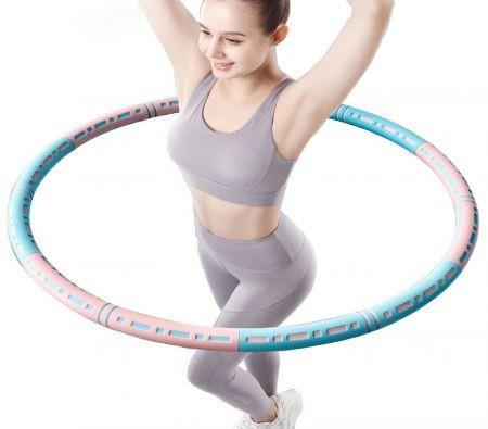 Image of Exercise Hula Hoop 6 Sections Detachable Adjustable Weight loss waist slim Size 90cm