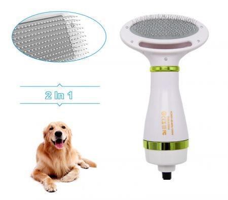 Image of 2-In-1 Portable Pet Dog Dryer Dog Hair Dryer And Comb Brush Pet Grooming dryer Cat Hair Comb Dog Fur Blower Low Noise Temprature