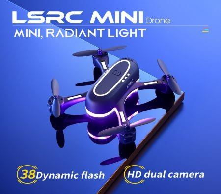 Image of 2021 Newest LSRC Rainbow Mini Drone 720P HD Dual Camera WIFI FPV Hight Hold One Key Return Quadcopter RC Dron Kid Gifts