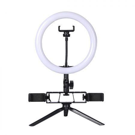 Image of LED Ring Light with Tripod Stand Phone Holder Dimmable Studio Photo Makeup Lamp Type2
