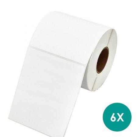 Image of Direct Thermal 100x150mm 4x6 Printing Post Labels Roll Fastway Startrack eParcel