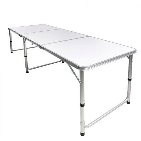 Image of Folding Camping Table Aluminium Portable Picnic Outdoor Foldable Tables 180cm