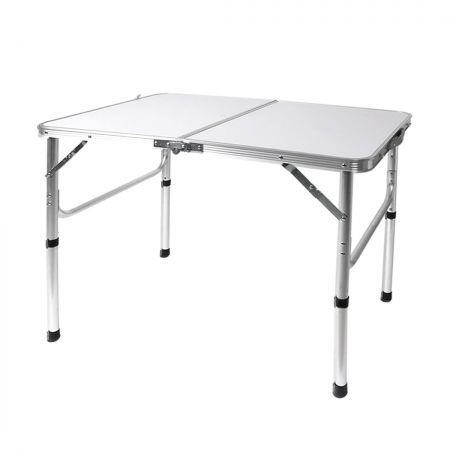 Image of Folding Camping Table Aluminium Portable Picnic Outdoor Foldable Tables BBQ Desk